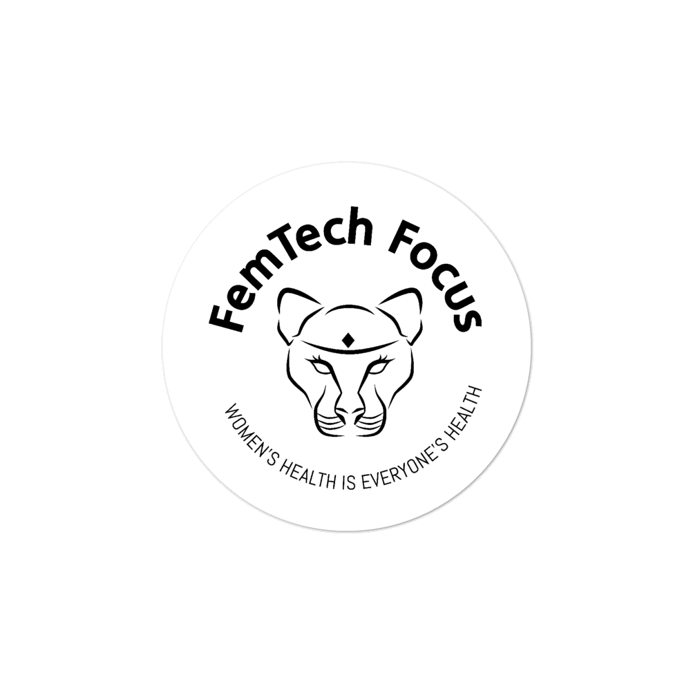 FemTech Focus B/W logo stickers