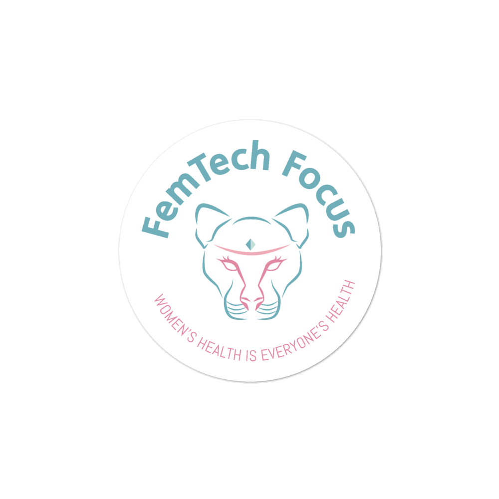 FemTech Focus colored logo stickers