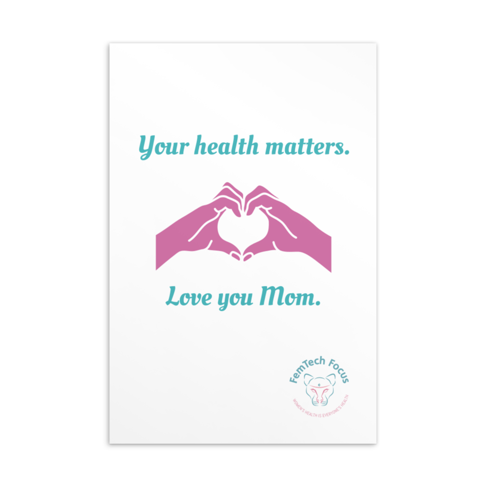 Your Health Matters, Mother's Day Card